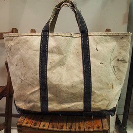 L.L.Bean - 1970's damaged boat and tote