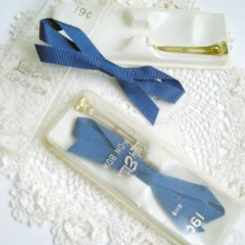 "1960's ""Grosgrain Ribbon"" Vintage Hair Clip (2点セット)"