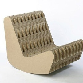 Farm - Pool Rocker Cardboard Contemporary Armchair by Giles Miller