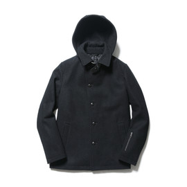 SOPHNET. - WOOL MELTON HOODED SHORT BLOUSON