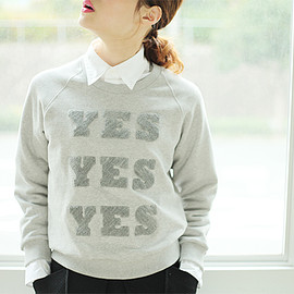 Peter Jensen - Mini Yes Sweatshirt[grey marl]