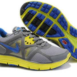 Nike LunarGlide 3 Stealth Treasure Blue Cool Grey Yellow-Womens