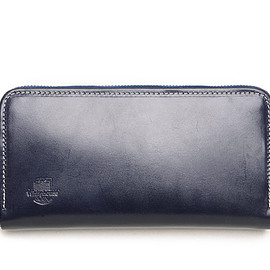 Whitehouse Cox - S2622 Long Zip Wallet-Holiday Line-Marine×Red