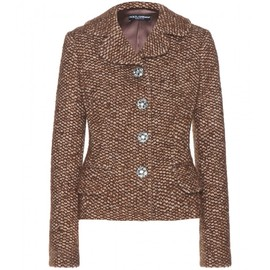 DOLCE&GABBANA - Tweed-effect knit jacket