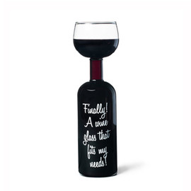 Big Mouth Toys - wine bottle glass