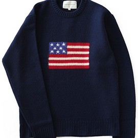 ANALOG LIGHTING - L/S Flag Knit (navy/color)