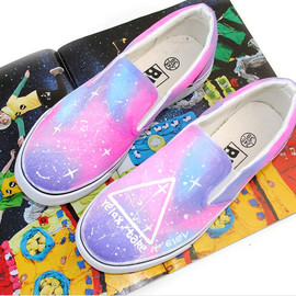Vintage Galaxy Starry Sky Canvas Shoes