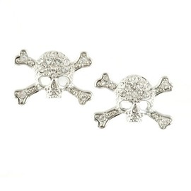 Vivienne Westwood - Diamante Skull Stud Earrings