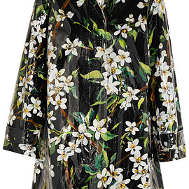 DOLCE&GABBANA - Floral-print coated cotton raincoat