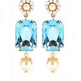 DOLCE&GABBANA - Dolce & Gabbana - CRYSTAL PENDANT CLIP-ON EARRINGS - mytheresa.com GmbH