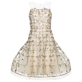 Oscar de la Renta - Embroidered tulle dress