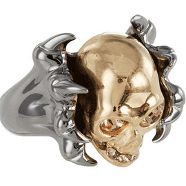 Alexander McQueen - Two-Tone Claw Skull Ring