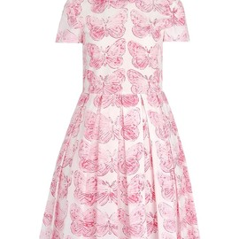 RED VALENTINO - butterfly printed short sleeve dress