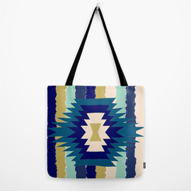 re:values - Blanket -Blue- wide tote