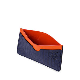 LOEWE - Plain Card Holder Navy Blue/Orange all