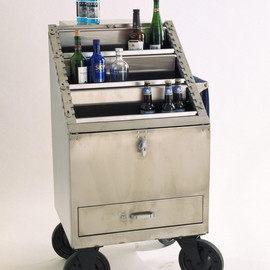 fusionfurniture - B52 Stainless Steel Bar Cart