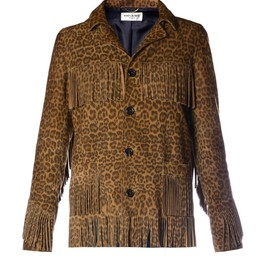 SAINT LAURENT - Curtis leopard-print suede jacket