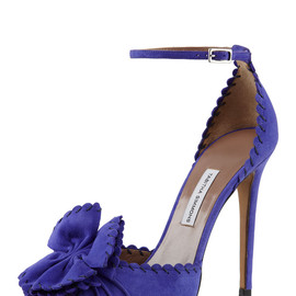 TABITHA SIMMONS - Ruby Scalloped Ankle-Strap Pump