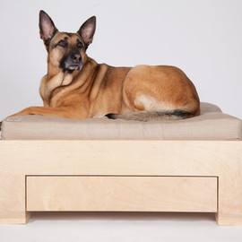 SaintRochDogBeds - Box Bed in Light Wood