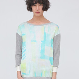 wed - 【wed】EMO green Sweat Switch Pullover