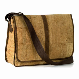 "Corkor - 13 "" Messenger Bag in Vegan Cork by Corkor - Green Vegan Gift Idea"