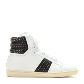 SAINT LAURENT - Studded high-top sneakers