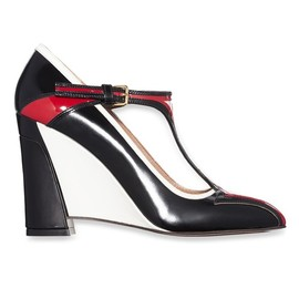 MARNI - Resort2015 Leather Mary Jane wedge pumps