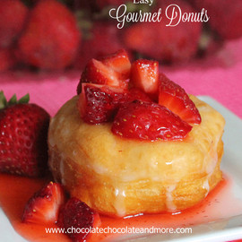 Chocolate Chocolate and More! - Strawberry Sensation Gourmet Donut