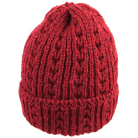 HIGHLAND 2000 - *HIGHLAND 2000* wool cable knit cap (wine)