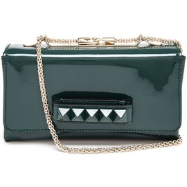 VALENTINO - Rockstud Patent Leather Clutch