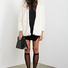 FOREVER 21 - high-collar faux jacket