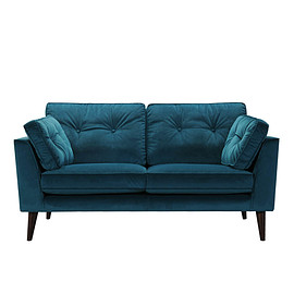 Dulton - VELVET SOFA 2 SEATER BLUE