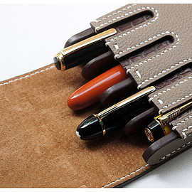 Handmade leather Fountain pen case, Pen case, waterman case