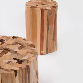 Studio Ubico - Reclaimed scrap wood side tables