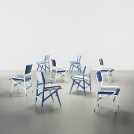 GIO PONTI - set of eight dining chairs from Villa Arreaza, Caracas