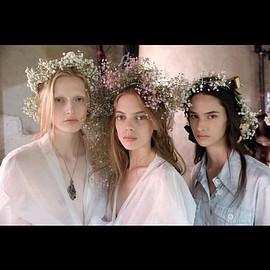 RODARTE - RODARTE 2018ss Paris     Baby's breath hair♡♡