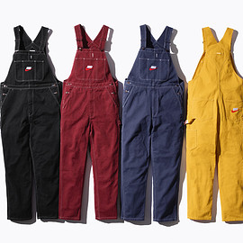 Supreme, NIKE - Cotton twill Overalls with embroidered logos.