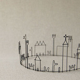 mini Town On A Wire
