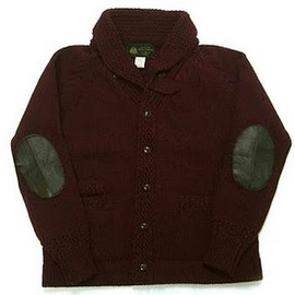 OLD JOE & Co. - SHAWL COLLAR LETTERED CARDIGAN (Bordeaux)