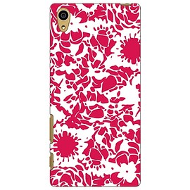 SECOND SKIN - kion 「flower mediumvioletred」 / for Xperia Z5 SOV32/au