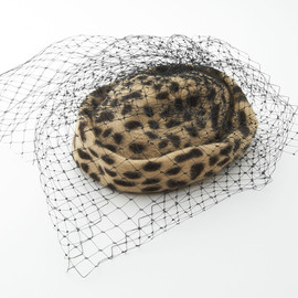 MARZI - Leopard Patterned Fur Hat with Race