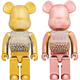 MEDICOM TOY - MY FIRST BE@RBRICK GOLD & SILVER Ver./PINK & GOLD Ver. 1000%