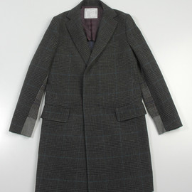 sacai - Chesterfield check coat (2012AW)