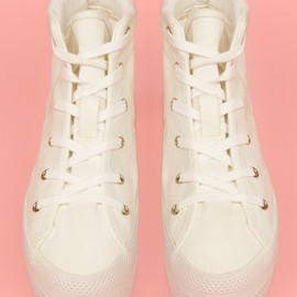 Chloe Sevigny for Opening Ceremony - canvas platform sneakers