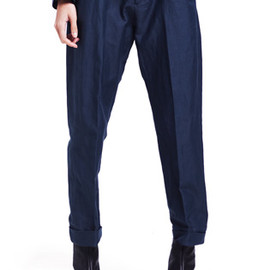HOPE - JUDGE TROUSER / BLUE GREY
