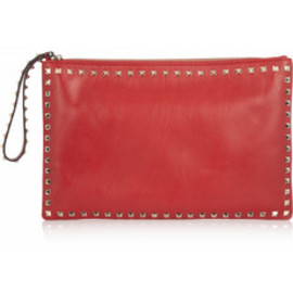 VALENTINO - Studded lether clutch