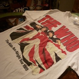 """Hanes - 「<used>'89 Hanes """"THE WHO""""TEE white""""made in USA"""" size:L 7800yen」完売"""