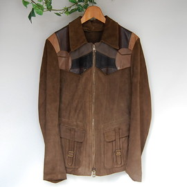"gucci - leather jacket sampling EASTWEST ""SMOKE"""