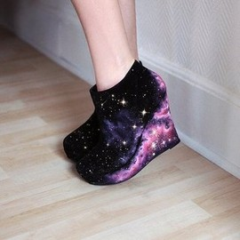 Nebula Wedge Heels