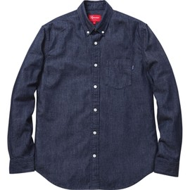 Supreme - Denim Shirt - Dark Blue
